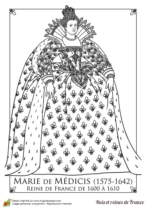 111 best images about coloriages princesses et reines on - Coloriage marie ...