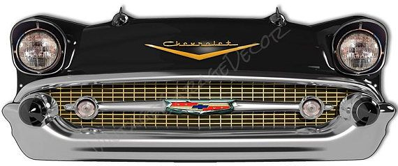 1957 Chevrolet Belair Front End Laser Cutout Sign  $50.00