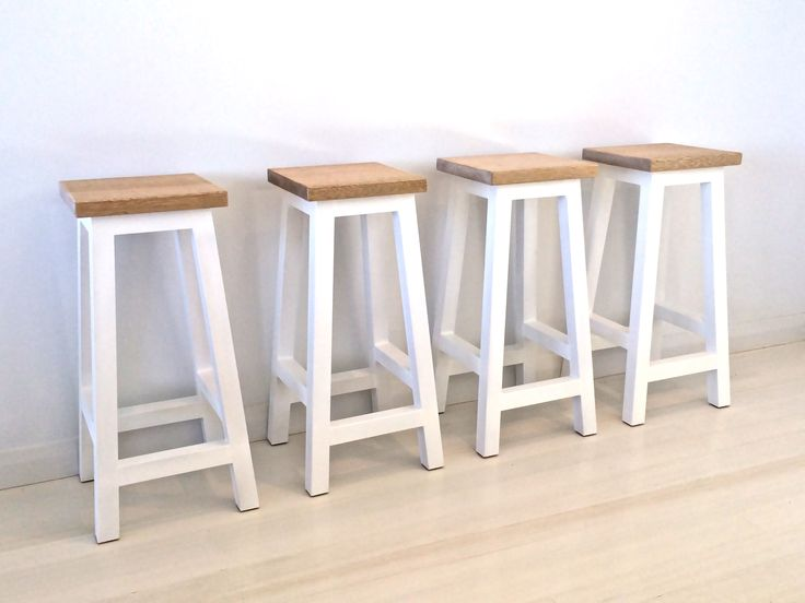 White and Maple timber bar stool
