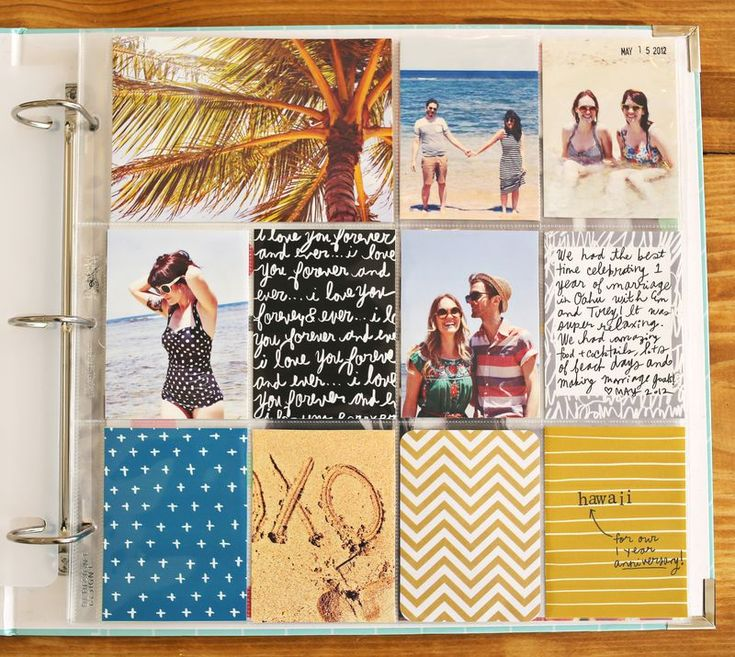 Project Life: The way she did this scrapbook is SOOO cute! Want to try this for sure!