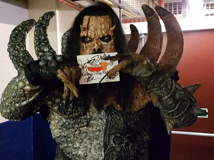 Mr Lordi - Lordi (band, 2006 Eurovision Winners) #lordi #band #metal #rock #hardrock #finland #finnish #eurovision #winner #monsterman #charity #london  www.ealingsoupkitchen.con