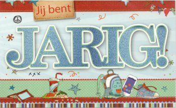Jij bent JARIG!  Coole verjaardagskaart voor tieners