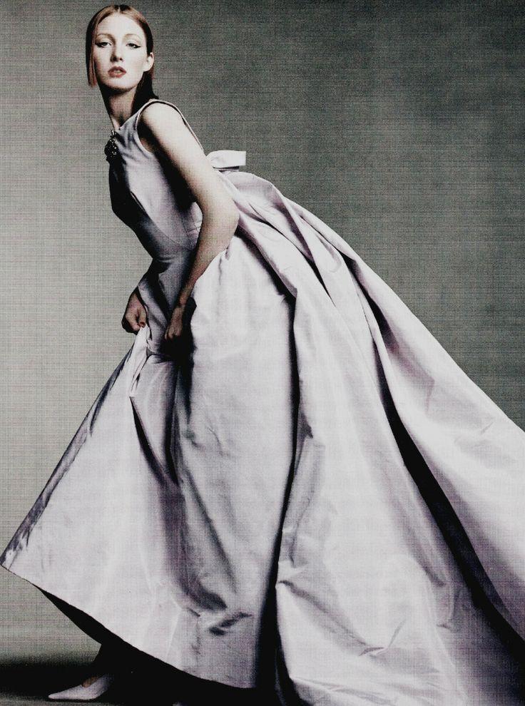 """""""Portrait of Paris"""" : Maggie Rizer by Steven Meisel for Vogue US April 1998"""