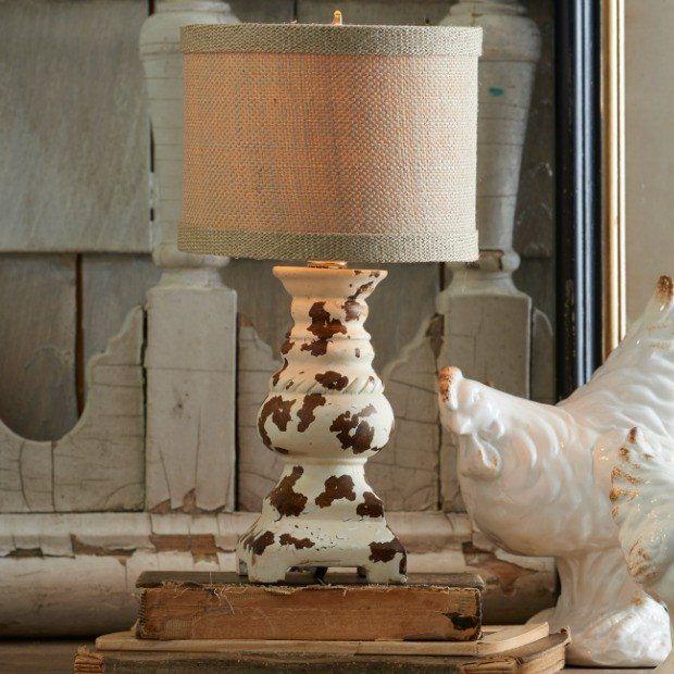 Distressed Farmhouse Pillar Table Lamp Farmhouse Table Lamps Lamp Farmhouse Lamps