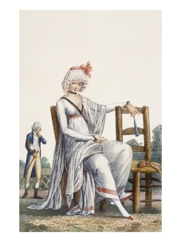 Lady's Promenade Dress, 1800 (Coloured Engraving) Debucourt