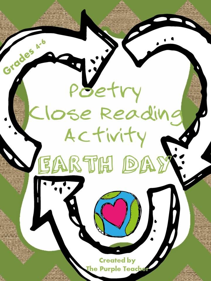 In this activity, students will close read an original Earth Day poem, discuss various poetry elements (repetition, word choice, imagery) and complete a printable poster. The poster is an easy and great way to decorate your classroom or a bulletin board to celebrate and recognize Earth Day.