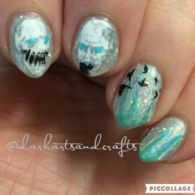 36 best game of thrones nail art designs images on pinterest game of thrones jon snow nail art designs prinsesfo Choice Image