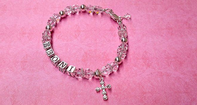 'Chrism' Personalised Name Bracelet. Find it at www.giftedmemoriesjewellery.com.au