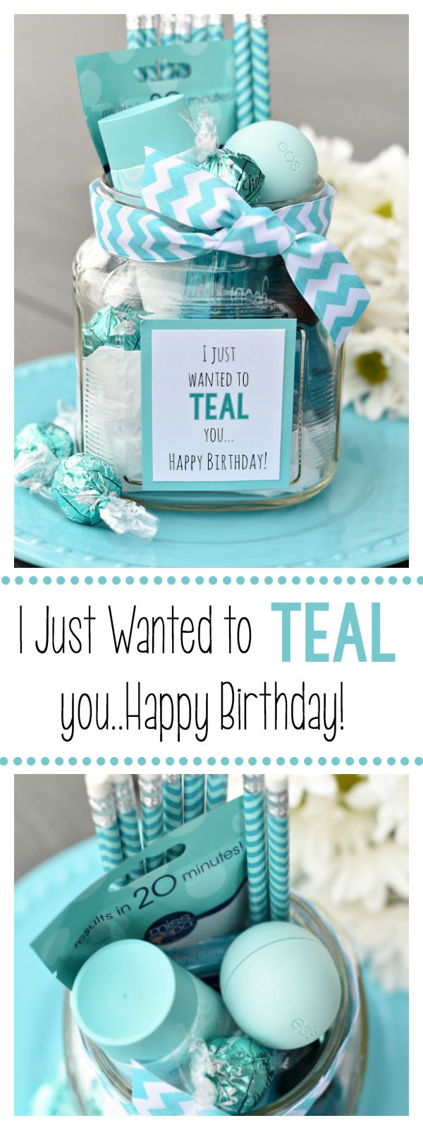 teal birthday gift for friends