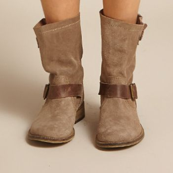 Luna Boots - Taupe Suede - lifestyle