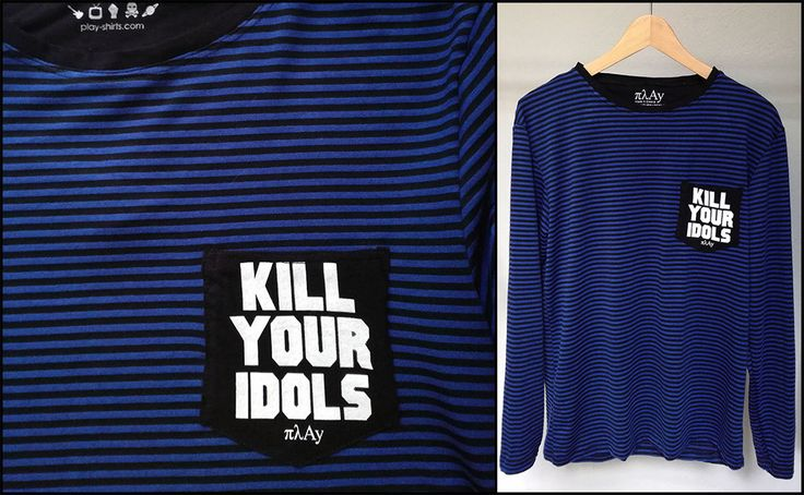 Kill Your Idols long sleeve pocket tee #killyouridols #kill #your #idols #pocket #long #sleeve #tee #tshirt #stripes #striped #stripedshirt #rock #fashion #style #clothing #gunsnroses #punk #gifts #quotes