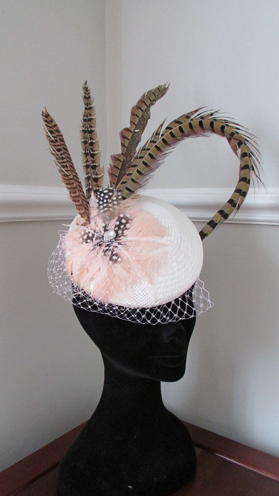 Ivory Pillbox Ladies Day Hat Kentucky Derby by HatCoutureDesigns