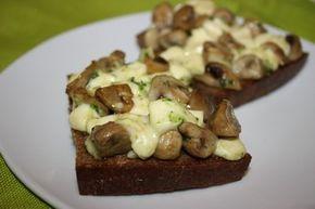 Грибная закуска на хлебе | Школа вкуса - вкусные кулинарные рецепты