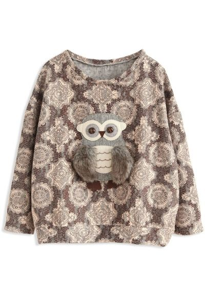 Vintage Owl Loose SweatshirtOASAP Giveaway, 10 pieces per day, till the end of 2014! Easiest way to get free clothing!