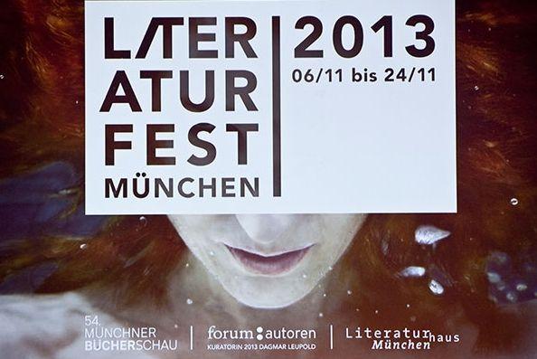 Eröffnung des Literaturfestes 2013 im Gasteig (6.11.2013) © Kerstin Dahnert/Münchner Bücherschau #litmuc13