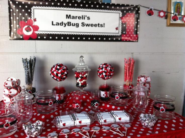 LadyBug Candy table!! | Mareli's ladybug birthday ...