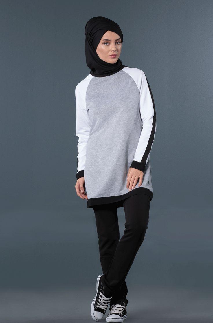 mayovera tesettür eşofman modelleri, siyah beyaz ve gri eşofman takımı, tesettürgiyim,muslimsportswear,hijabfriendlysportswear