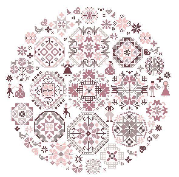free chart, quaker motifs