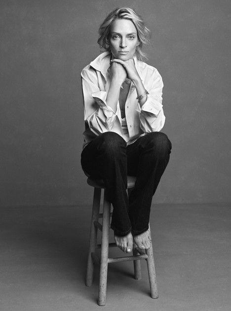 Uma Thurman    http://pinterest.com/ookiinamomo/portraits/