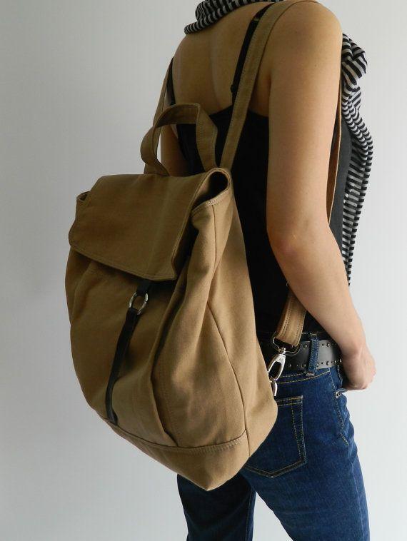 SALE SALE SALE - Tanya in Camel // Backpack / Satchel / Rucksack / Messenger / Laptop / Tote / Women/ For Her / For Him