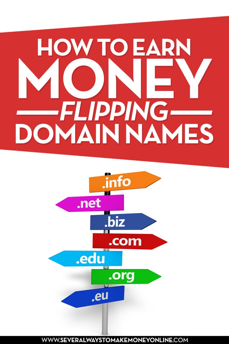A great way to make money online is to buy and sell domain names. Learn how to earn money flipping domain names.