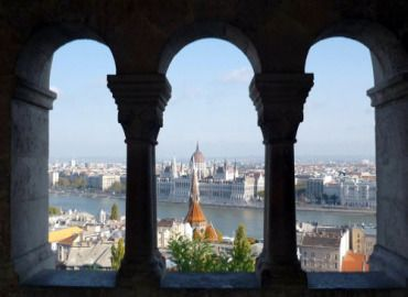 Budapest...one side is Buda and the other Pest...with the Danube in between.