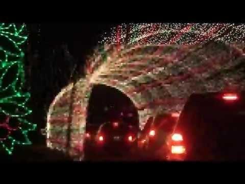 Winter Wonderland Christmas lights at Tilles Park in St. Louis