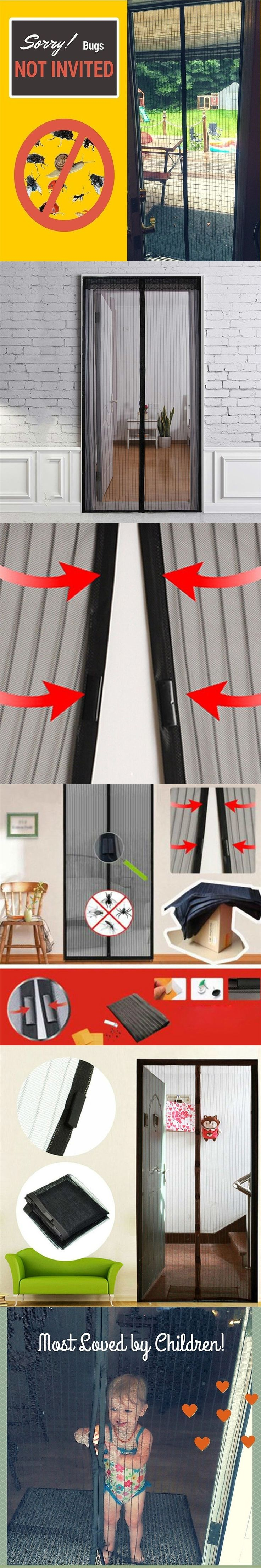 Summer Magnetic Mosquito Net Door Curtains Anti Insect Screen Kitchen Door Curtain Fashion Mosquito Net Magnetic Curtain