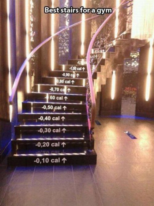 Best stairs in a gym for motivation #exercise #gym                                                                                                                                                                                 More