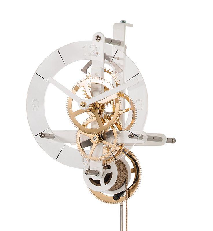 HORLOGE DESIGN COURBET BLANC - HORLOGES DESIGN - Horloges Courbet - Vente en ligne d'horloges comtoises, horloges design, horloges coucous
