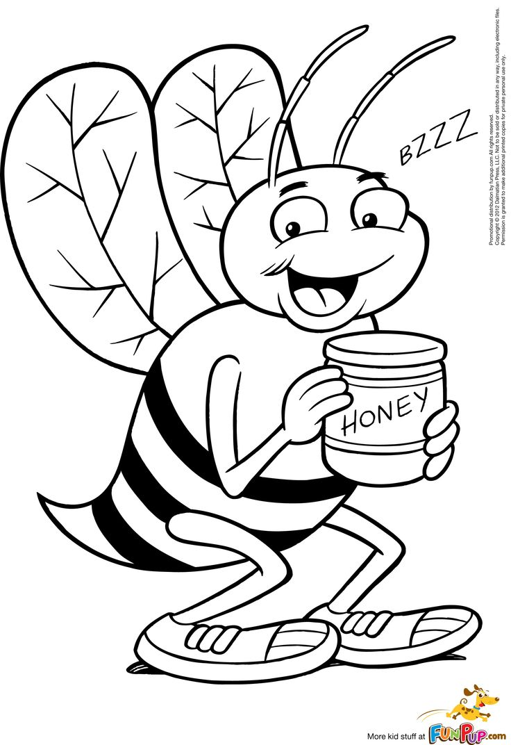 60 best bee coloring pages images on pinterest coloring pages