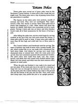 Make Your Own Totem Pole: Printable Arts & Crafts Project on Native Americans. We made a totem pole by allowing each student to stuff (newspaper) and decorate a lunch sack like an animal and then we stacked and stapled them to the wall.
