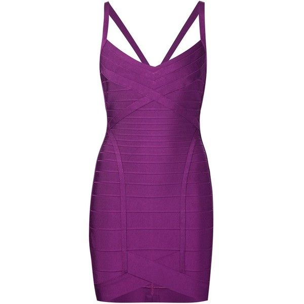 Hervé Léger bandeau bodycon dress (30.307.895 VND) ❤ liked on Polyvore featuring dresses, short dresses, vestiti, purple dress, bandeau dress, hervé léger and herve leger dress