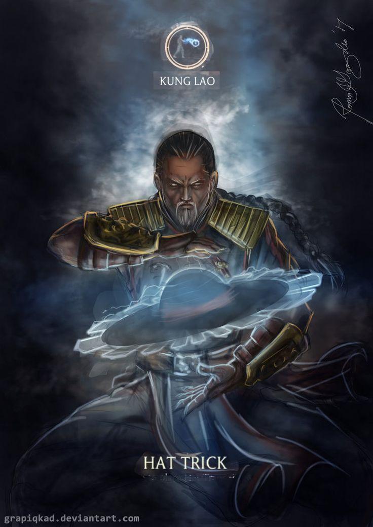 Mortal Kombat X-Kung Lao Hat trick Variation by Grapiqkad