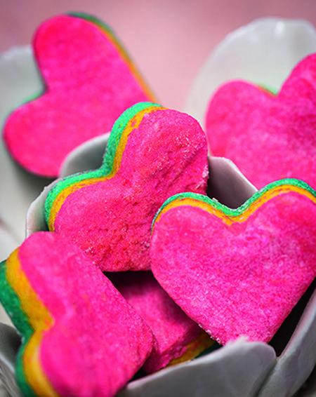 Cómo hacer estas veraniegas #galletas arcoíris  #cookies #recetas
