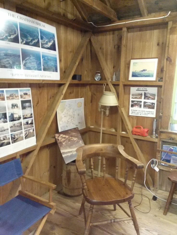 Photo taken 2014: Kitchen corner in the Nickerson North Beach Camp showing the shelves and photos of the north beach and coastline as well as photos of the camp from when it was moved. #nickerson, #northbeachcamp, #northbeach, #camp, #beachcamp, #atwoodhouse, #chathamhistoricalsociety, #chatham, #capecod
