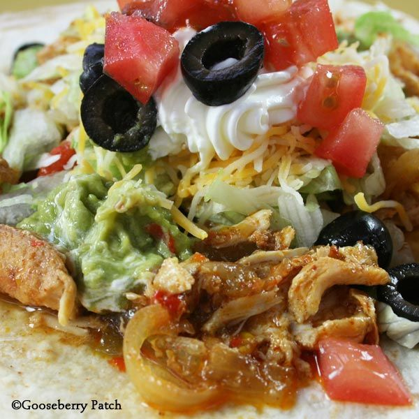 Slow-Cooker Chicken Fajitas from Gooseberry Patch cookbook  Slow-Cooking All Year 'Round