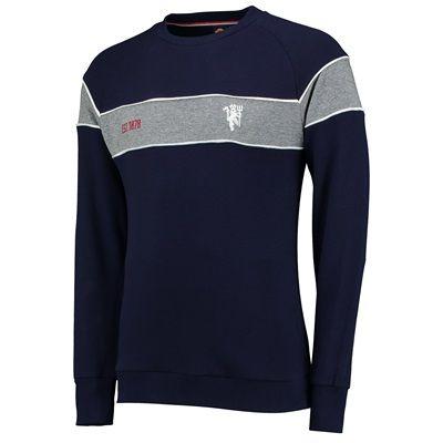 Manchester United Premium Devil Panelled Crew Neck Sweater - Navy - Me: Manchester United… #ManUtdShop #MUFCShop #ManchesterUnitedShop