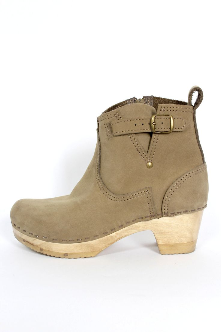 """No. 6 sage nubuck ankle clog boots with side buckle side and inside zip. * Size 6 * Orig $380 * Nubuck Leather * 2"""" Heel All Sales Final. Authenticity is guaranteed. Please feel free to email with any"""