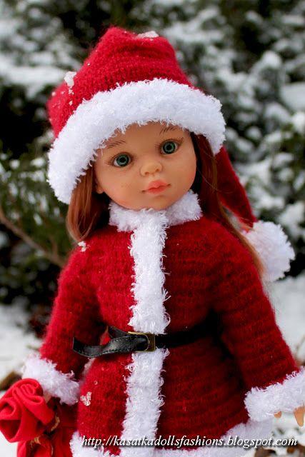 KasatkaDollsFashions: Новый Год вернулся или наряд Санты для кукол Паола Рейна :)