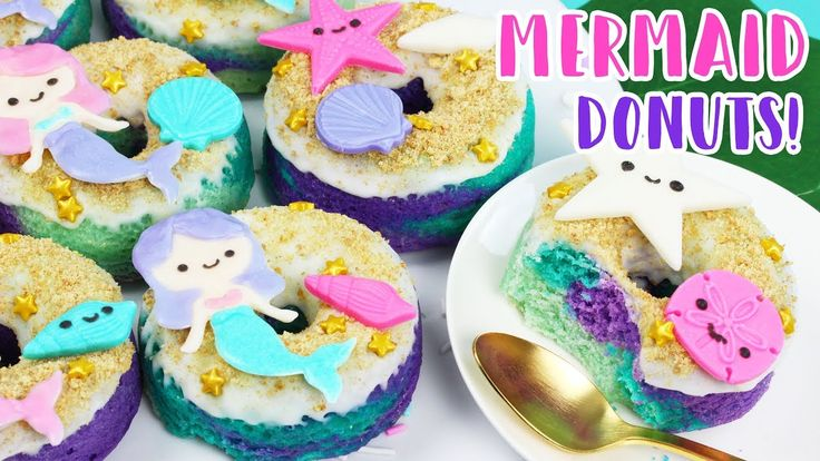 How to Make Mermaid Donuts!  - YouTube
