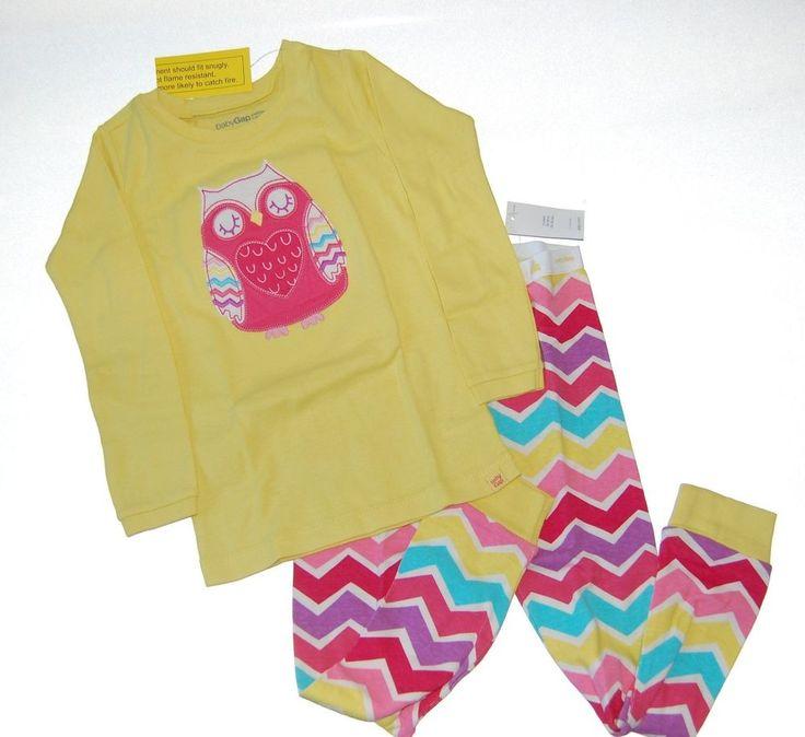 Baby Gap Girls Owl Long Pajamas PJs NEW NWT NIP #BabyGap #TwoPiece #owl