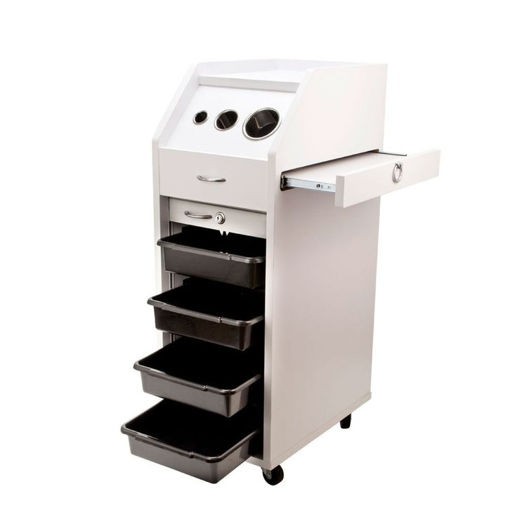Wood salon trolley cart hair perm beauty salon mobile for Salon trolley