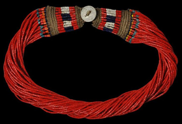 Glass Bead Necklace Naga People, Burma/India late 1940s