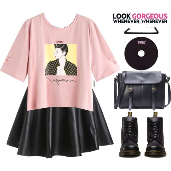 Romwe #10 VIII by oliverab on Polyvore featuring Dr. Martens, casual, romwe and Trendy