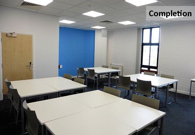 Contemporary Refurbished Classroom Facilities www.rapinteriors.com Photography by RAP Interiors