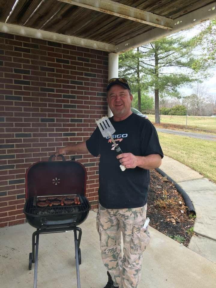 Dad at a grill at grandmas house grandmas house dads