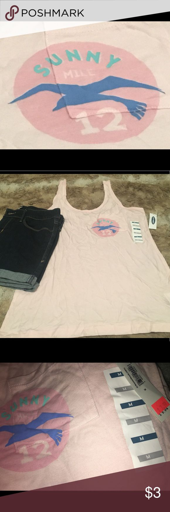 Old Navy Tank Top Old Navy, Tank Top, Light Pink - Thin Straps, US Size M, Brand New with Tags, 60% Cotton, 40% Modal Old Navy Tops Tank Tops