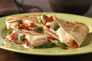 Quesadillas are easy b/c you can let each person put in whatever they want.