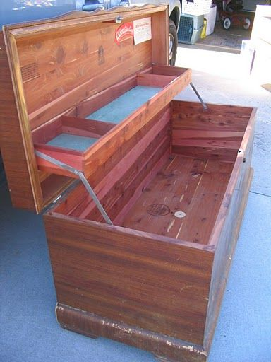 Vintage Cedar Lane Hope Chest. I have this exact chest from my mom and its in mint condition. This spring we're going to paint it and make a cushion bench top for it. Not crazy about the interior cedar smell